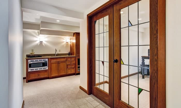 how to lock french doors interior