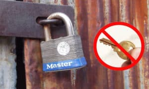 how to open a master lock without a key